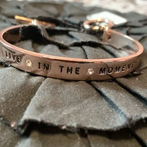BCBG generation cuff bracelet. LIVE IN THE MOMENT